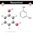 Resorcinol vector image vector image
