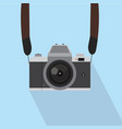 retro camera with strap vector image vector image
