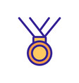 ribbon medal icon outline vector image vector image