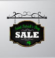 sale poster for st patrick s day vector image vector image