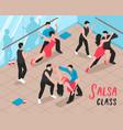 salsa class people isometric vector image vector image