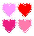 set colorful grunge hearts vector image vector image