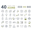 Set Flat Line Icons Eco and Bio vector image vector image
