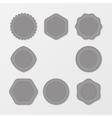 Set of grey Stamps Distressed Stamp Texture Post vector image vector image