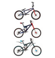 set of sport bikes in flat style vector image vector image