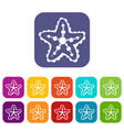 starfish icons set vector image vector image