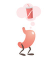 stomach thinking of a soda vector image vector image