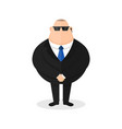 strong bodyguard security guard vector image vector image