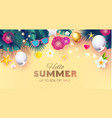 summer sale tropical background with leaves vector image vector image