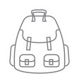 tourist backpack or hike bags knapsacks linear vector image vector image