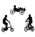 unusual bicyclists vector image vector image