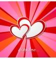 Valentine Day background with hearts vector image