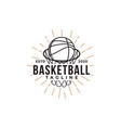 vintage basketball sport team club league logo vector image