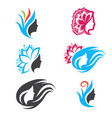 woman beauty logo design set vector image vector image