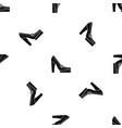 women shoes on platform pattern seamless black vector image vector image