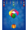 balloons and gift box vector image