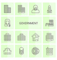 14 government icons vector image vector image