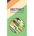 abstract background with colorful rounded shapes vector image vector image