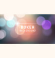 abstract bokeh banner design background vector image vector image