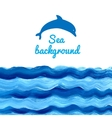 Acrylic Sea background vector image vector image