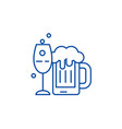 Alcoholic drinks line icon concept alcoholic