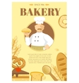 Baker And Flour Products Poster vector image vector image