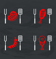 barbecue meat icon for icons vector image vector image