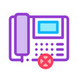 broken telephone icon outline vector image