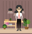 business woman worker at office vector image vector image