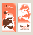 cards happy mothers day vector image vector image