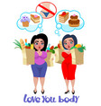 cartoon plus size women concept vector image