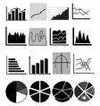 chart graph icons set vector image vector image