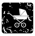 Children stroller icon grunge style vector image vector image