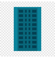 city apartment building icon flat style vector image vector image