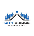 city bridge logo vector image vector image