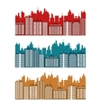 City design Building icon Colorful vector image