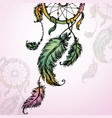 colorful of dream catcher vector image vector image