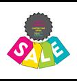 creative happy shopping discount sale banner desig vector image vector image