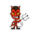 devil cartoon character sports mascot face with vector image vector image