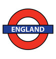 england underground sign vector image vector image