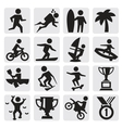extreme sports icon vector image vector image