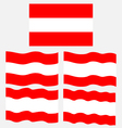 Flat and Waving Flag of Austria vector image vector image