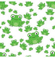 frog seamless pattern with white background vector image