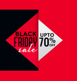 geometric style black friday creative sale banner vector image