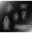 Ghosts on transparent background vector image