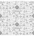 girl birhtday doodle seamless pattern vector image vector image