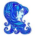goddess water cyan dark blue aquamarine vector image