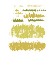 graphic collection abstract stainy grass on vector image vector image