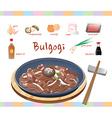 Ingredients in Bulgogi vector image vector image