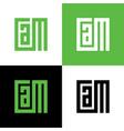 initial letter cam logo design template elements vector image vector image